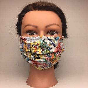 Accessories - FACE MASK w/ Filter Pocket and Nose Wire 😷
